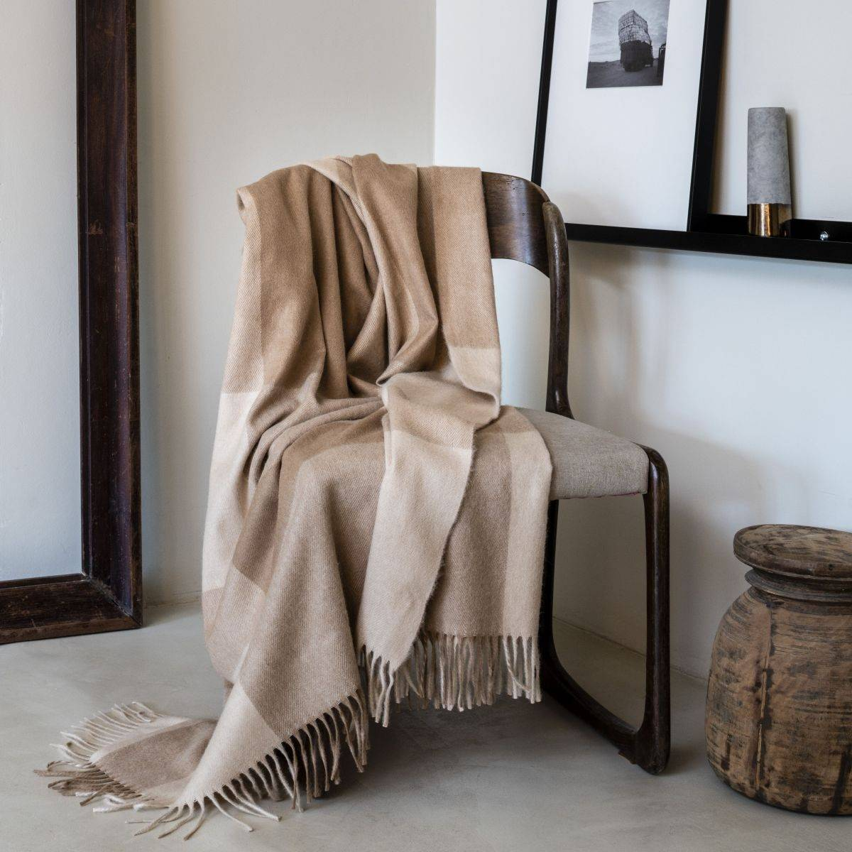 Pure camel hair throws: Baby Camel throw.