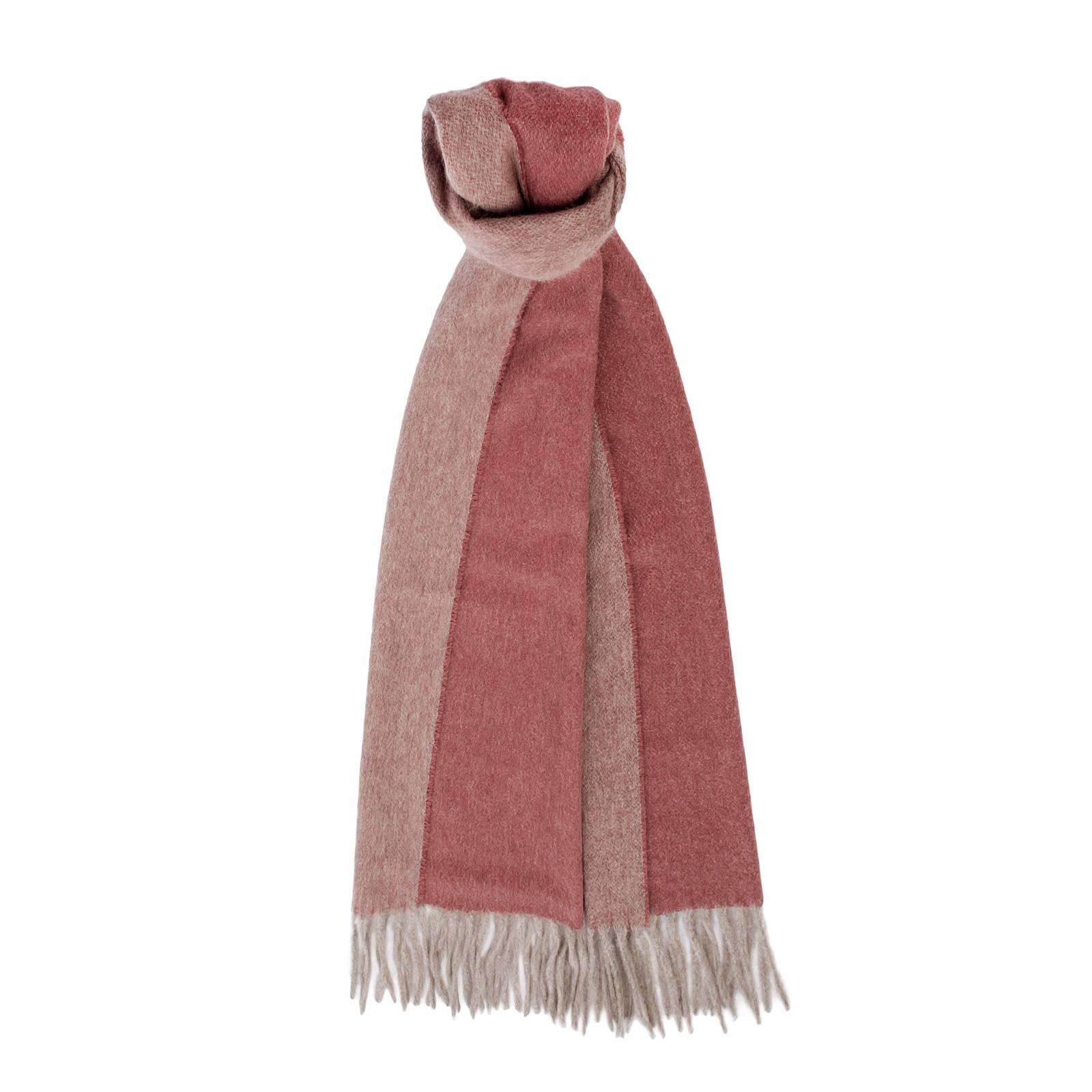 Pure cashmere scarves: Chandigarh scarf color Crème/Crème & Chandigarh scarf color Bleu/Gris.