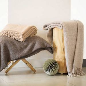Pure llama hair throws: Baby Llama Throw Gris foncé