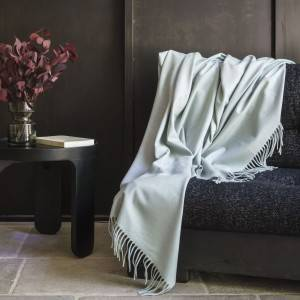Pure merino wool throw : Trois Mérinos Throw Blanc