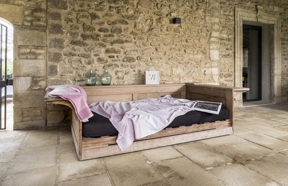 couverture coton brun de vian tiran. Black Bedroom Furniture Sets. Home Design Ideas