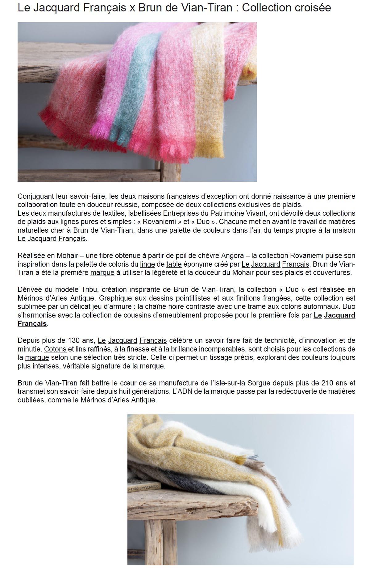 Manufacture Francaise Des Textiles D Ameublement home fashion news